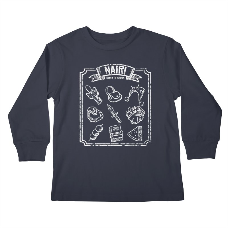 A Whole Bunch of Items! (White) Kids Longsleeve T-Shirt by Hound Picked Games