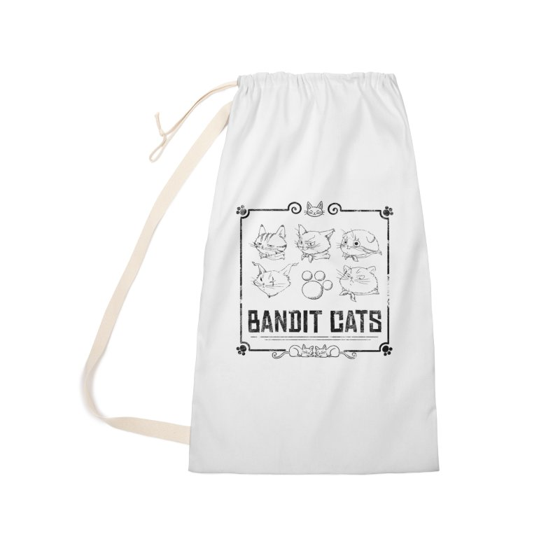 Meet the Cat Gang! (Black) Accessories Laundry Bag Bag by Hound Picked Games