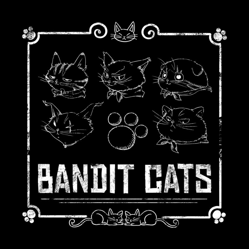 Meet the Cat Gang! (White) Men's Longsleeve T-Shirt by Hound Picked Games