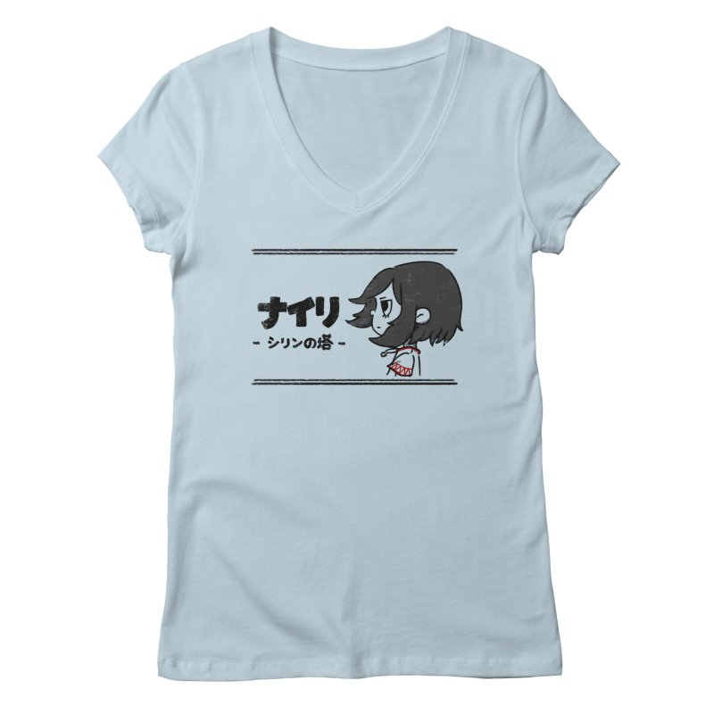 Lost in Thought... (Japanese - Black) Women's V-Neck by Hound Picked Games