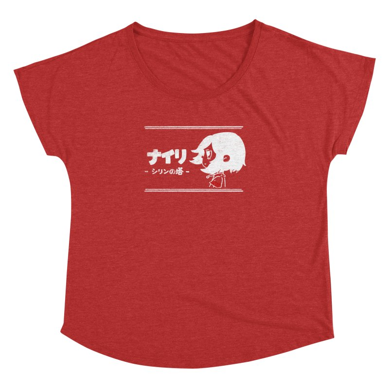 Lost in Thought... (Japanese - White) Women's Dolman Scoop Neck by Hound Picked Games