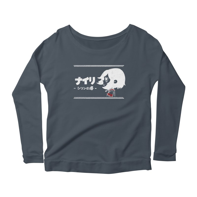 Lost in Thought... (Japanese - White) Women's Scoop Neck Longsleeve T-Shirt by Hound Picked Games