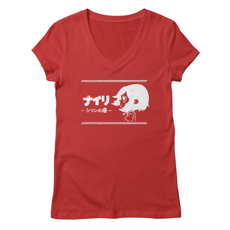 Lost in Thought... (Japanese - White) Women's Regular V-Neck by Hound Picked Games