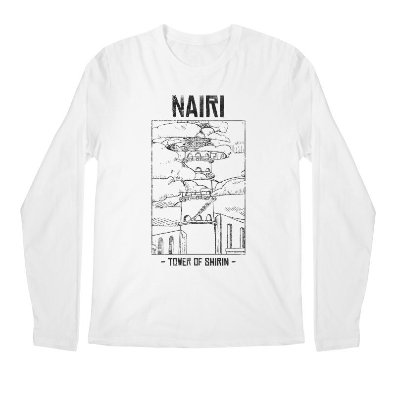 The Tower of Shirin (Black) Men's Regular Longsleeve T-Shirt by Hound Picked Games