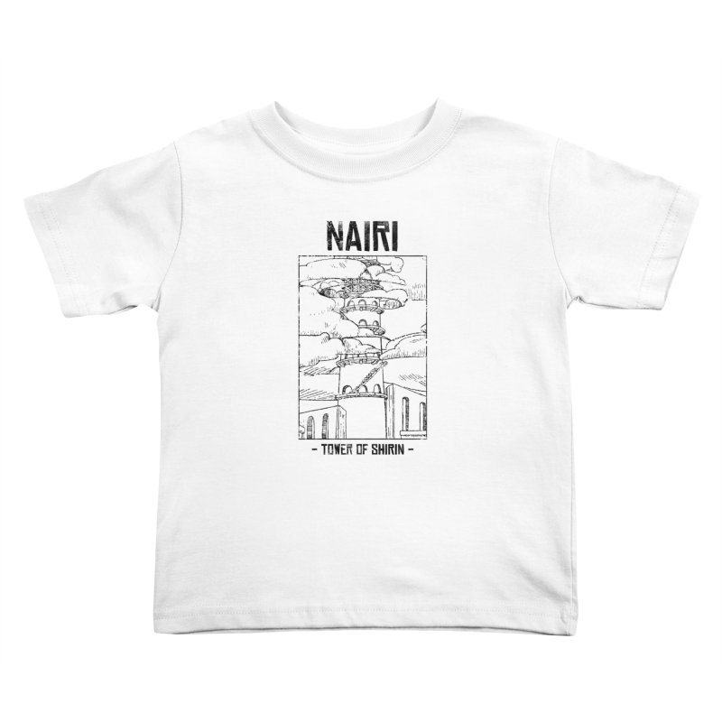 The Tower of Shirin (Black) Kids Toddler T-Shirt by Hound Picked Games