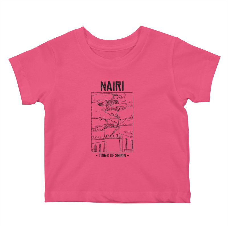 The Tower of Shirin (Black) Kids Baby T-Shirt by Hound Picked Games