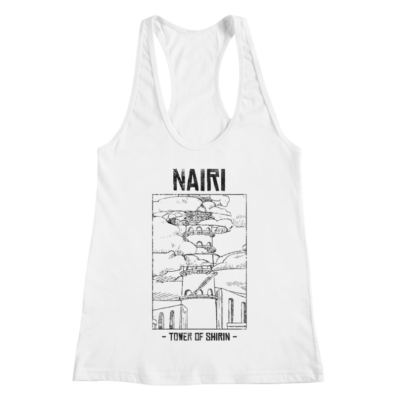 The Tower of Shirin (Black) Women's Racerback Tank by Hound Picked Games