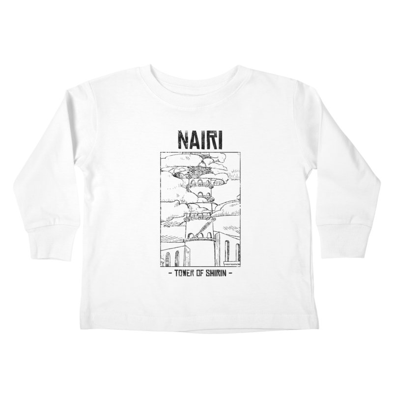 The Tower of Shirin (Black) Kids Toddler Longsleeve T-Shirt by Hound Picked Games