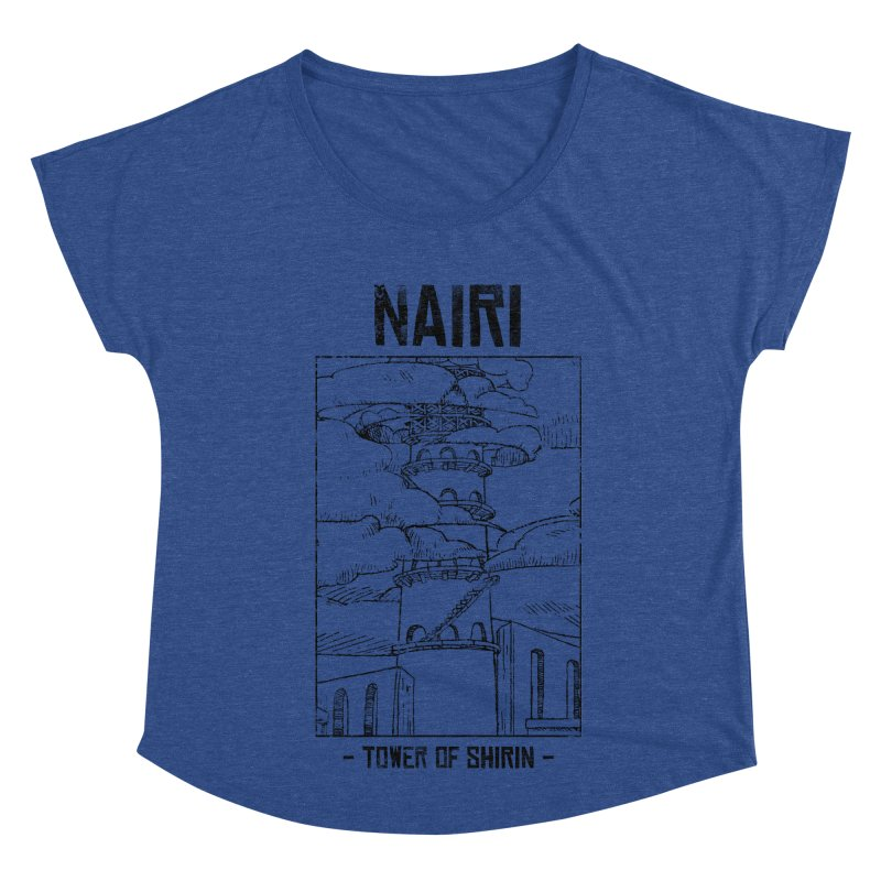 The Tower of Shirin (Black) Women's Dolman Scoop Neck by Hound Picked Games