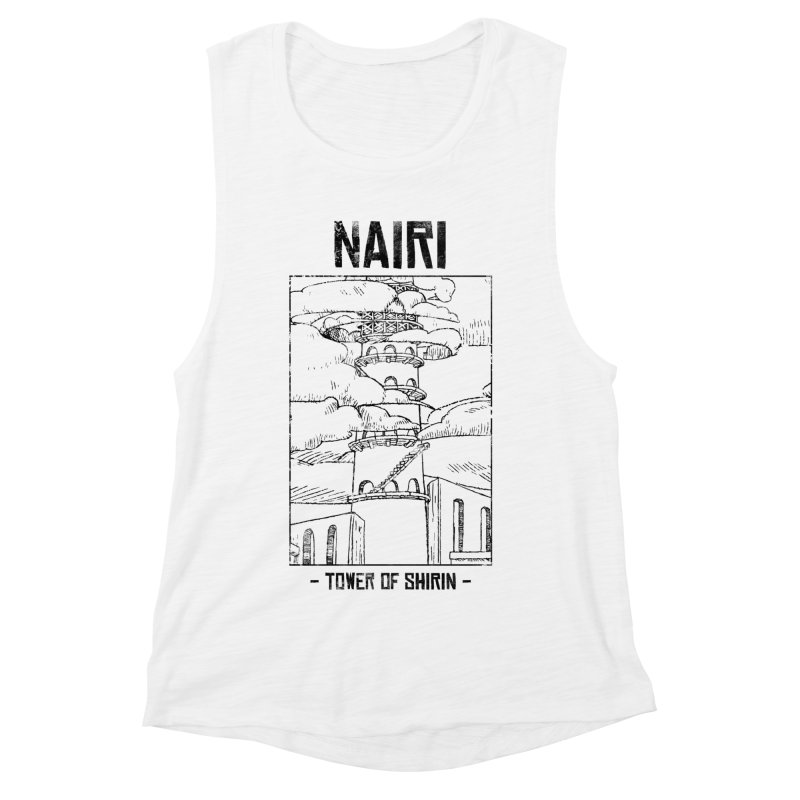 The Tower of Shirin (Black) Women's Muscle Tank by Hound Picked Games