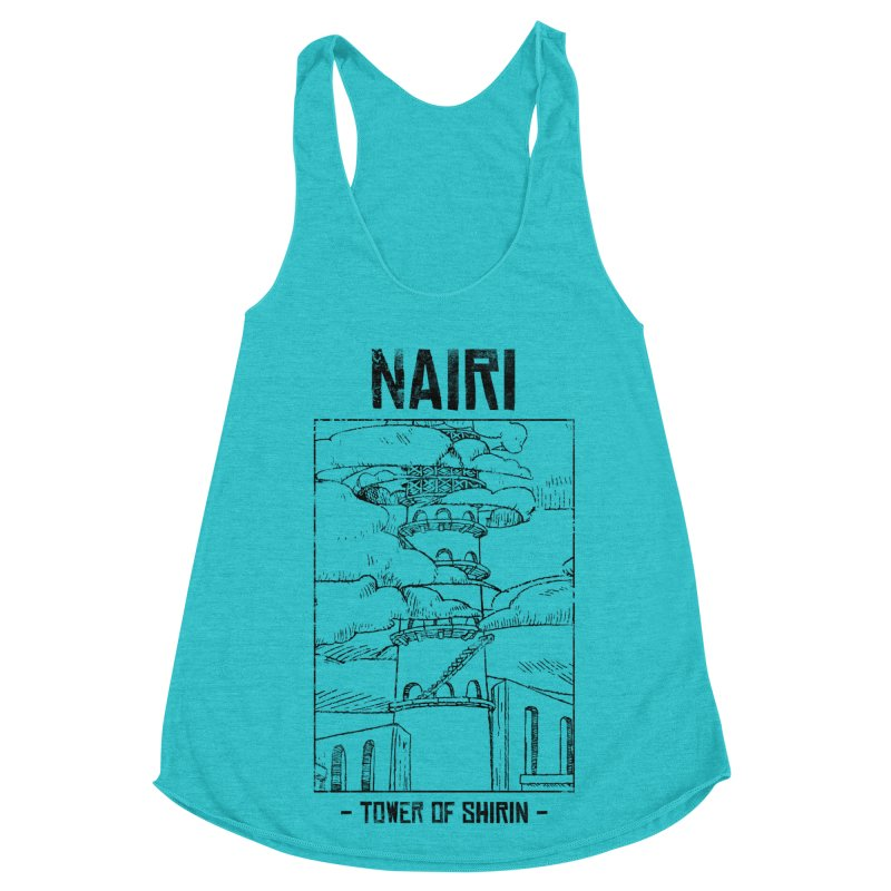 The Tower of Shirin (Black) Women's Racerback Triblend Tank by Hound Picked Games