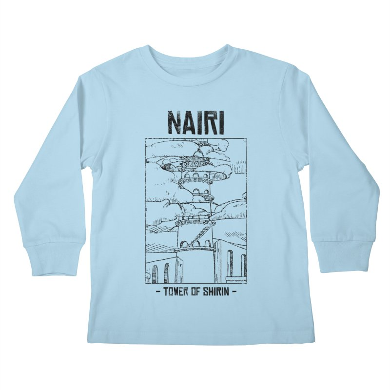 The Tower of Shirin (Black) Kids Longsleeve T-Shirt by Hound Picked Games