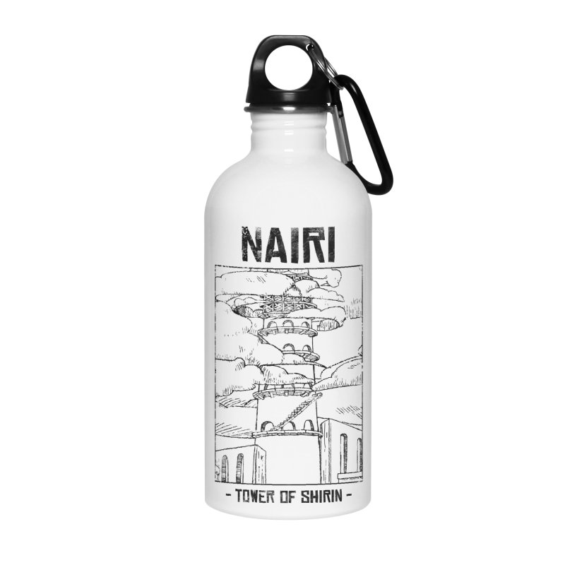 The Tower of Shirin (Black) Accessories Water Bottle by Hound Picked Games