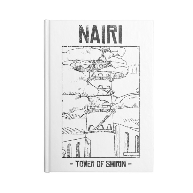 The Tower of Shirin (Black) Accessories Blank Journal Notebook by Hound Picked Games