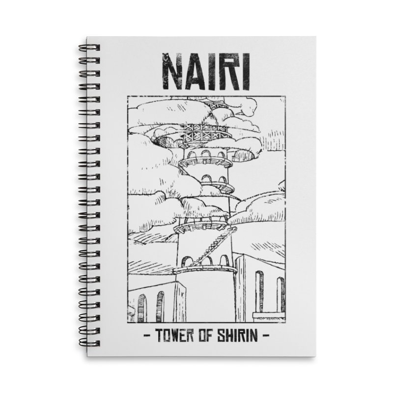 The Tower of Shirin (Black) Accessories Lined Spiral Notebook by Hound Picked Games