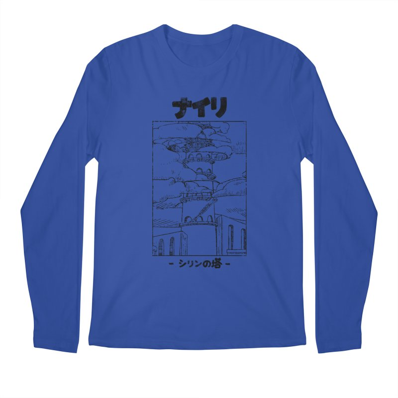 The Tower of Shirin (Japanese - Black) Men's Regular Longsleeve T-Shirt by Hound Picked Games