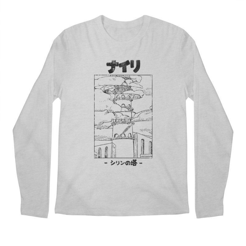 The Tower of Shirin (Japanese - Black) Men's Regular Longsleeve T-Shirt by Hound Picked Games