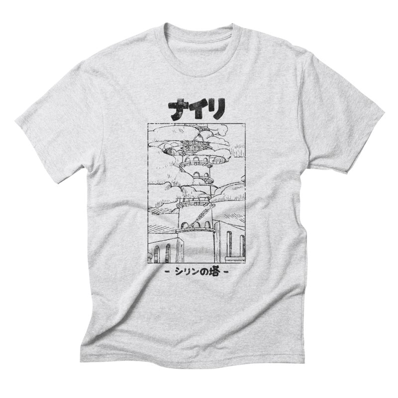The Tower of Shirin (Japanese - Black) Men's Triblend T-Shirt by Hound Picked Games
