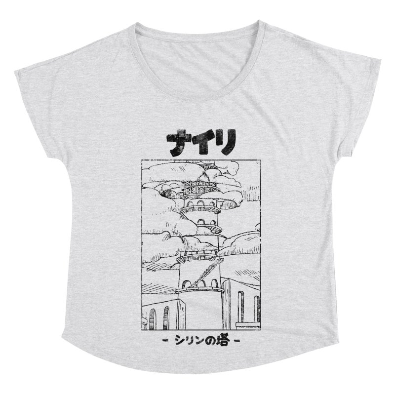 The Tower of Shirin (Japanese - Black) Women's Dolman Scoop Neck by Hound Picked Games