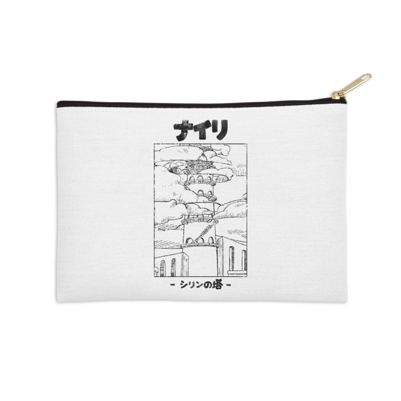 The Tower of Shirin (Japanese - Black) Accessories Zip Pouch by Hound Picked Games