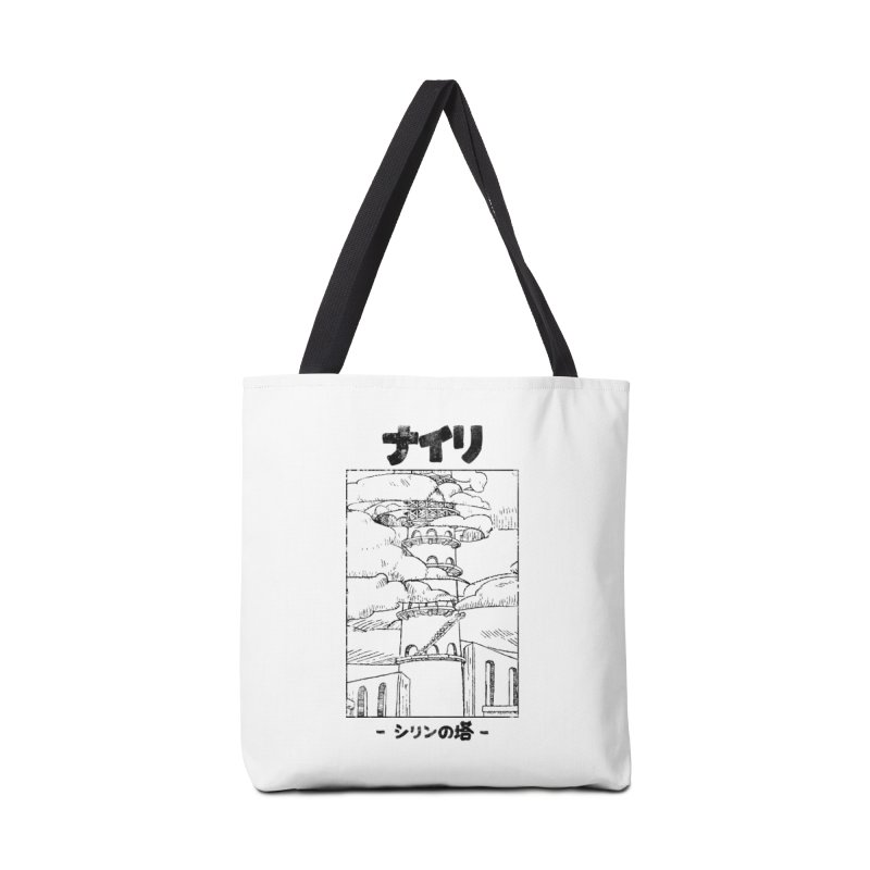 The Tower of Shirin (Japanese - Black) Accessories Tote Bag Bag by Hound Picked Games