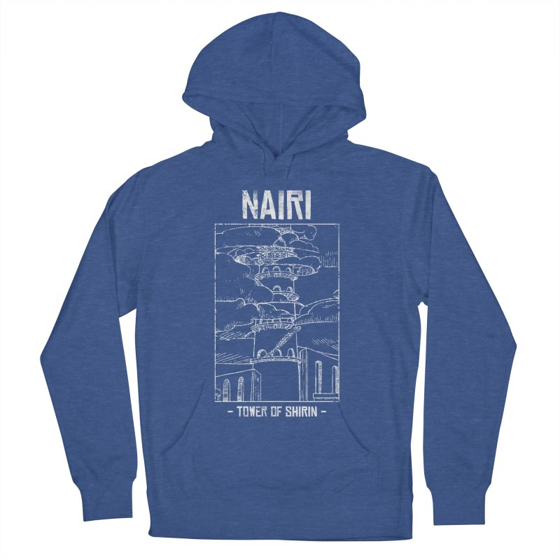 The Tower of Shirin (White) Men's French Terry Pullover Hoody by Hound Picked Games