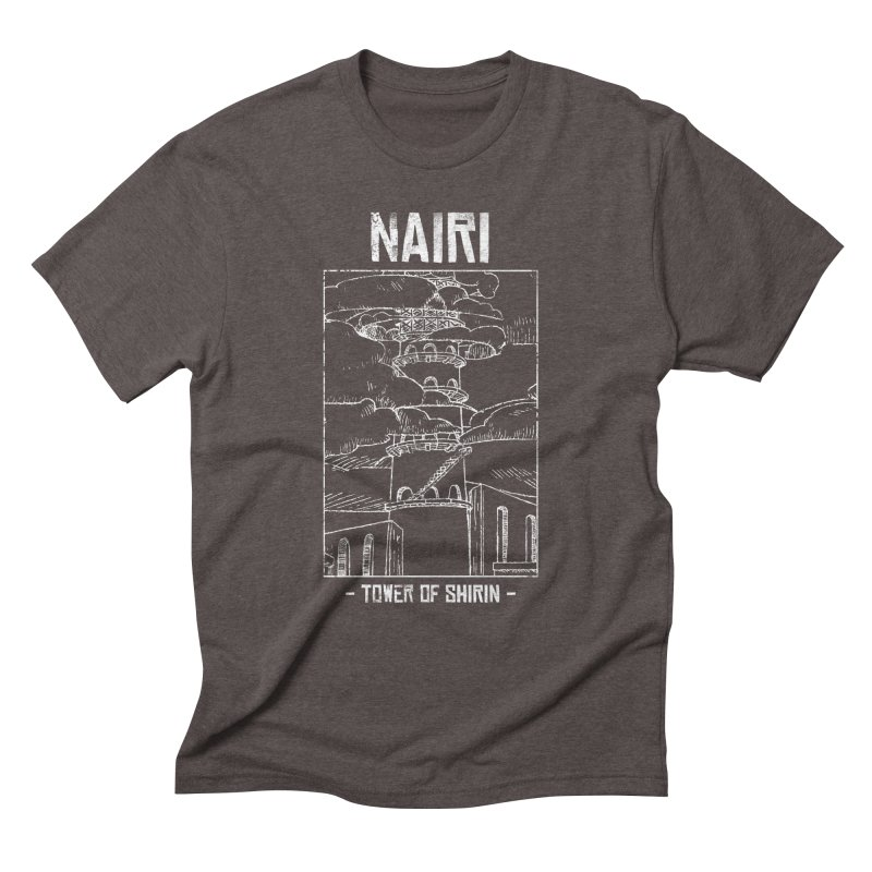 The Tower of Shirin (White) Men's Triblend T-Shirt by Hound Picked Games