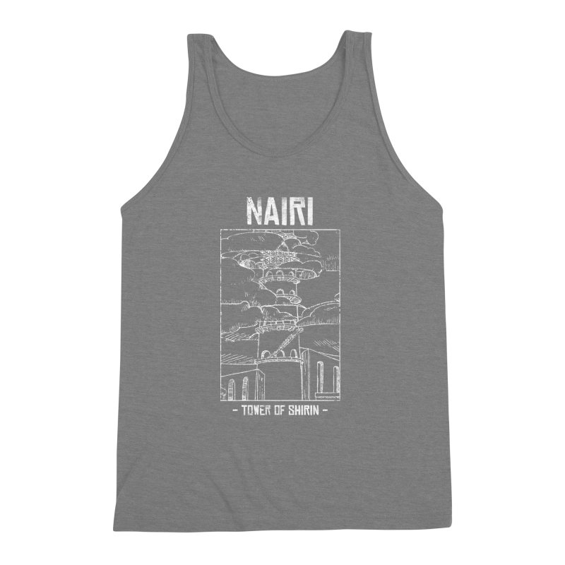 The Tower of Shirin (White) Men's Triblend Tank by Hound Picked Games