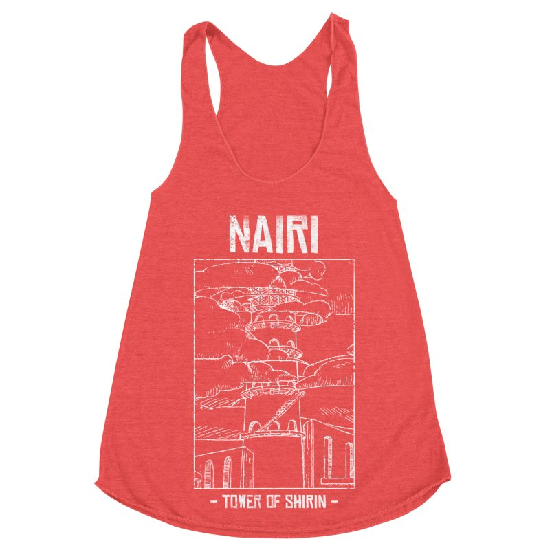 The Tower of Shirin (White) Women's Racerback Triblend Tank by Hound Picked Games