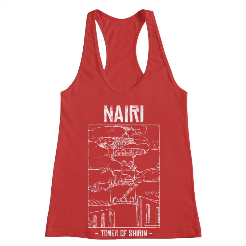 The Tower of Shirin (White) Women's Racerback Tank by Hound Picked Games