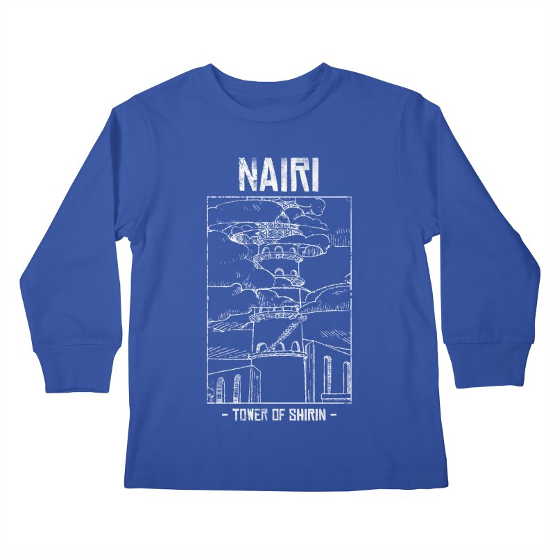 The Tower of Shirin (White) Kids Longsleeve T-Shirt by Hound Picked Games