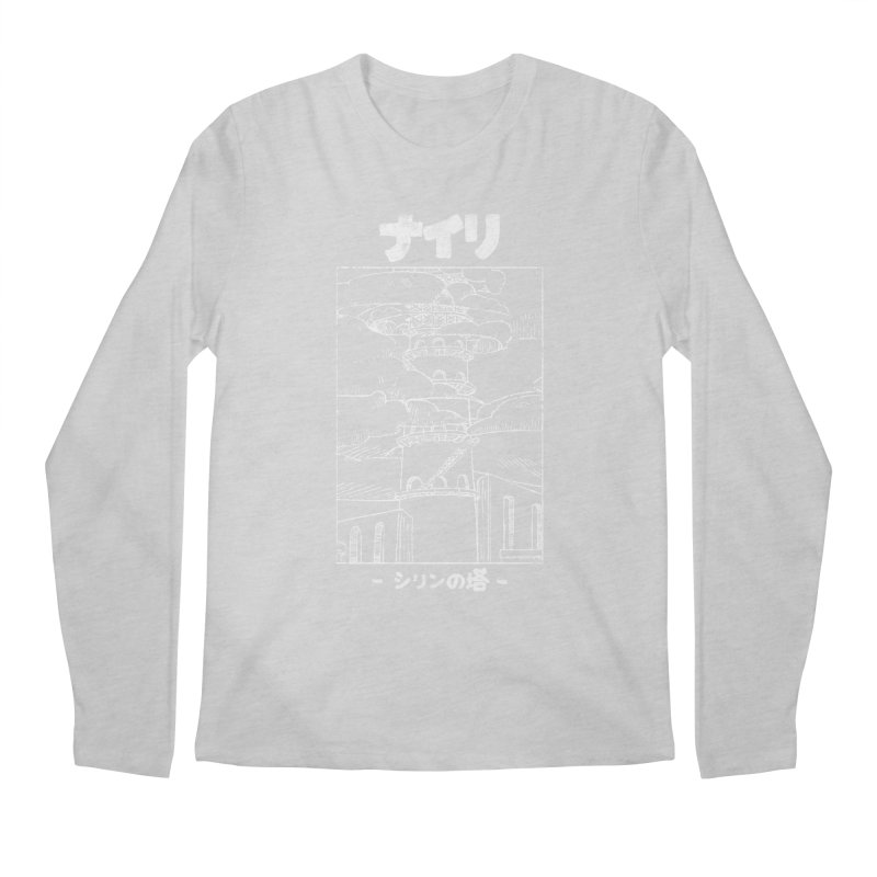 The Tower of Shirin (Japanese - White) Men's Regular Longsleeve T-Shirt by Hound Picked Games