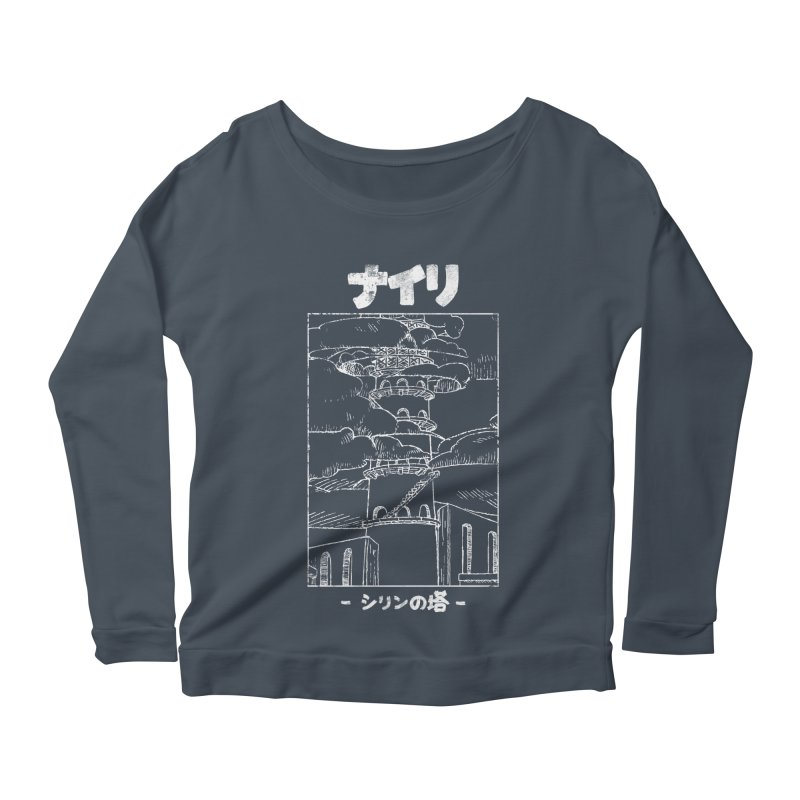 The Tower of Shirin (Japanese - White) Women's Scoop Neck Longsleeve T-Shirt by Hound Picked Games
