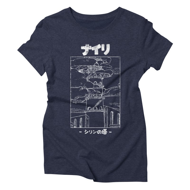 The Tower of Shirin (Japanese - White) Women's Triblend T-Shirt by Hound Picked Games
