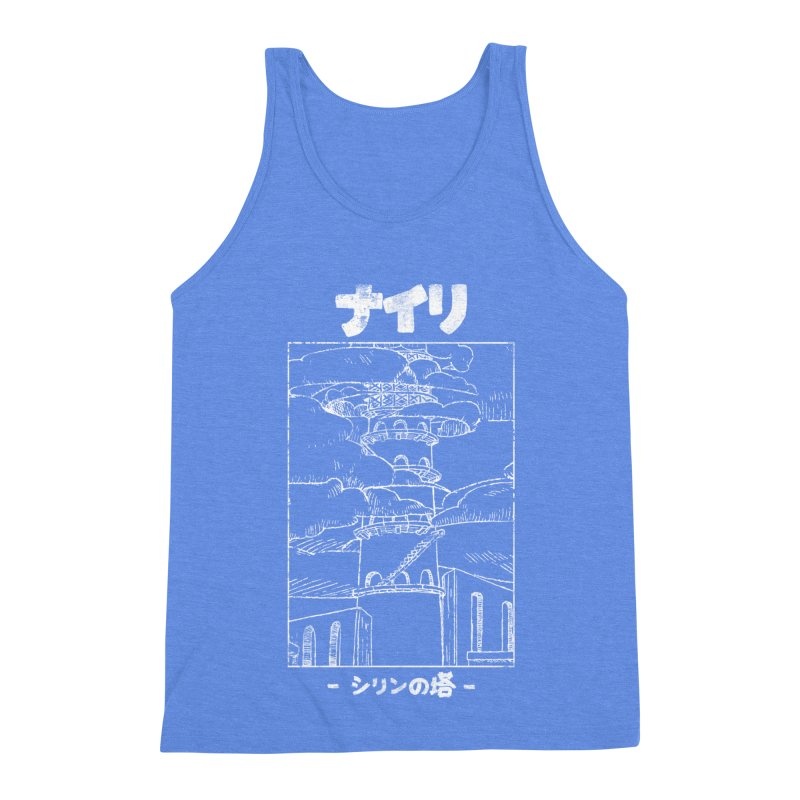 The Tower of Shirin (Japanese - White) Men's Triblend Tank by Hound Picked Games