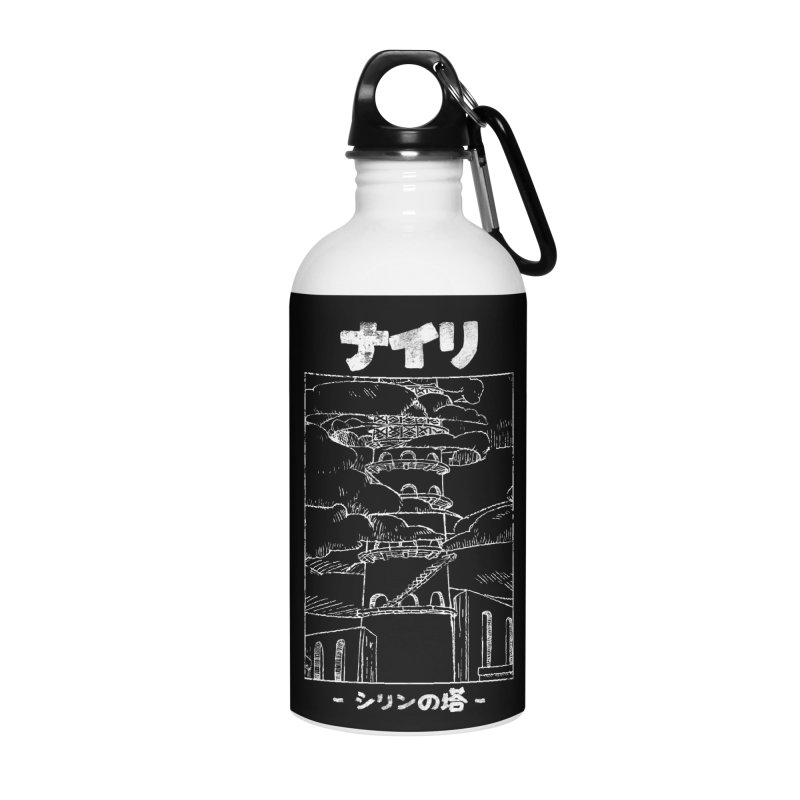The Tower of Shirin (Japanese - White) Accessories Water Bottle by Hound Picked Games