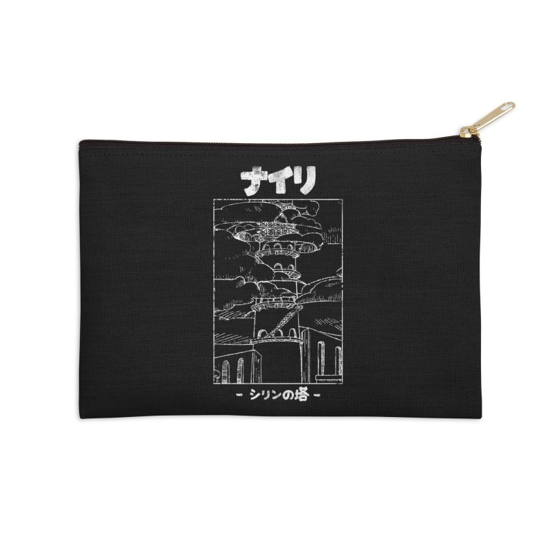 The Tower of Shirin (Japanese - White) Accessories Zip Pouch by Hound Picked Games