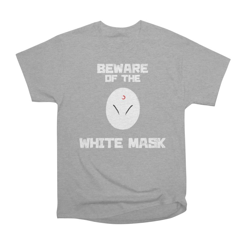 The White Mask Women's Heavyweight Unisex T-Shirt by Hound Picked Games
