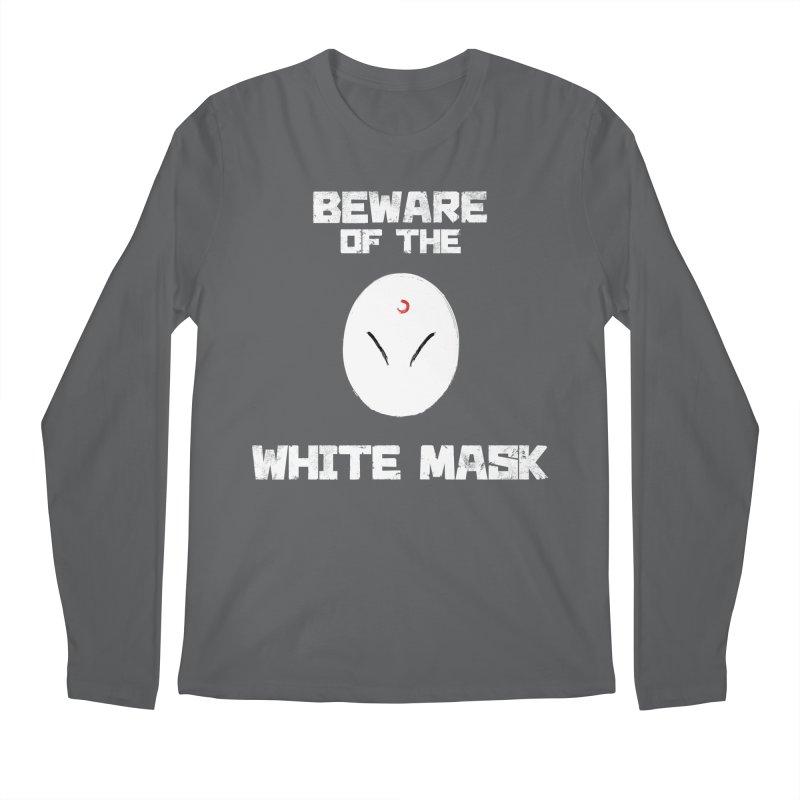 The White Mask Men's Regular Longsleeve T-Shirt by Hound Picked Games