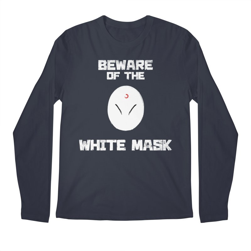 The White Mask Men's Regular Longsleeve T-Shirt by Hound Picked Games