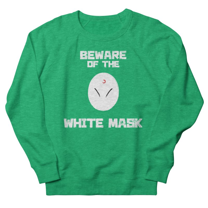 The White Mask Women's French Terry Sweatshirt by Hound Picked Games