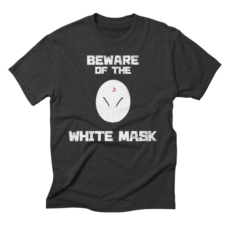 The White Mask Men's Triblend T-Shirt by Hound Picked Games
