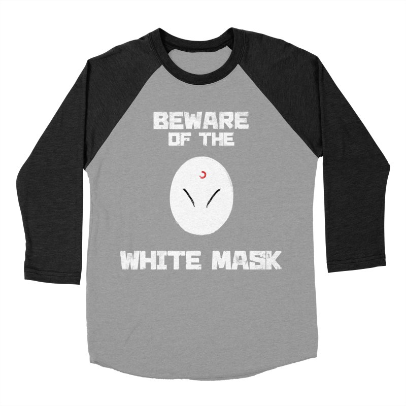 The White Mask Men's Baseball Triblend Longsleeve T-Shirt by Hound Picked Games