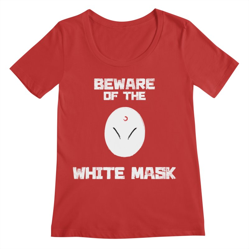 The White Mask Women's Regular Scoop Neck by Hound Picked Games