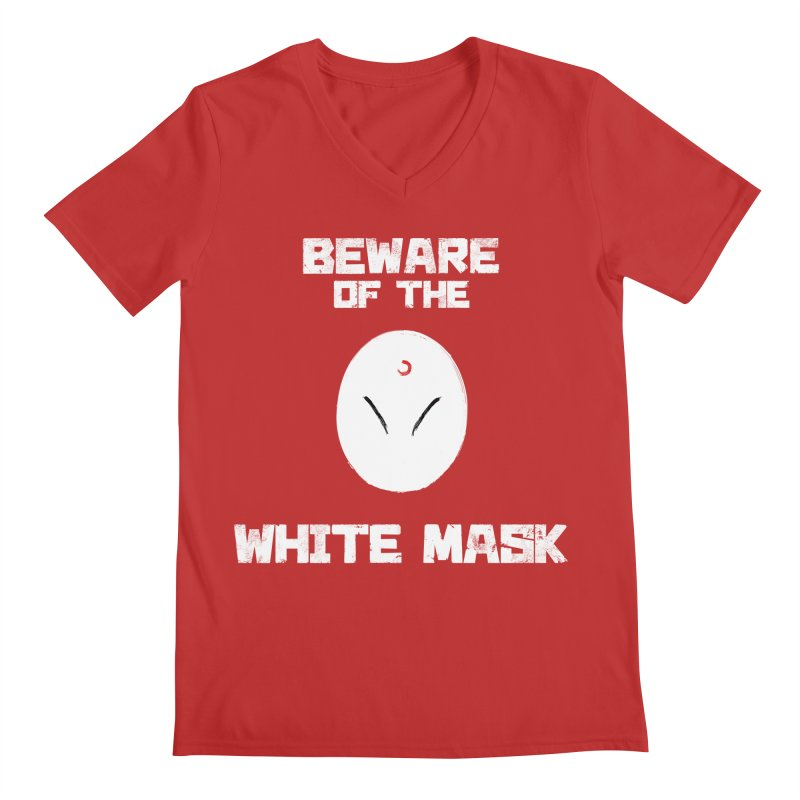 The White Mask Men's Regular V-Neck by Hound Picked Games