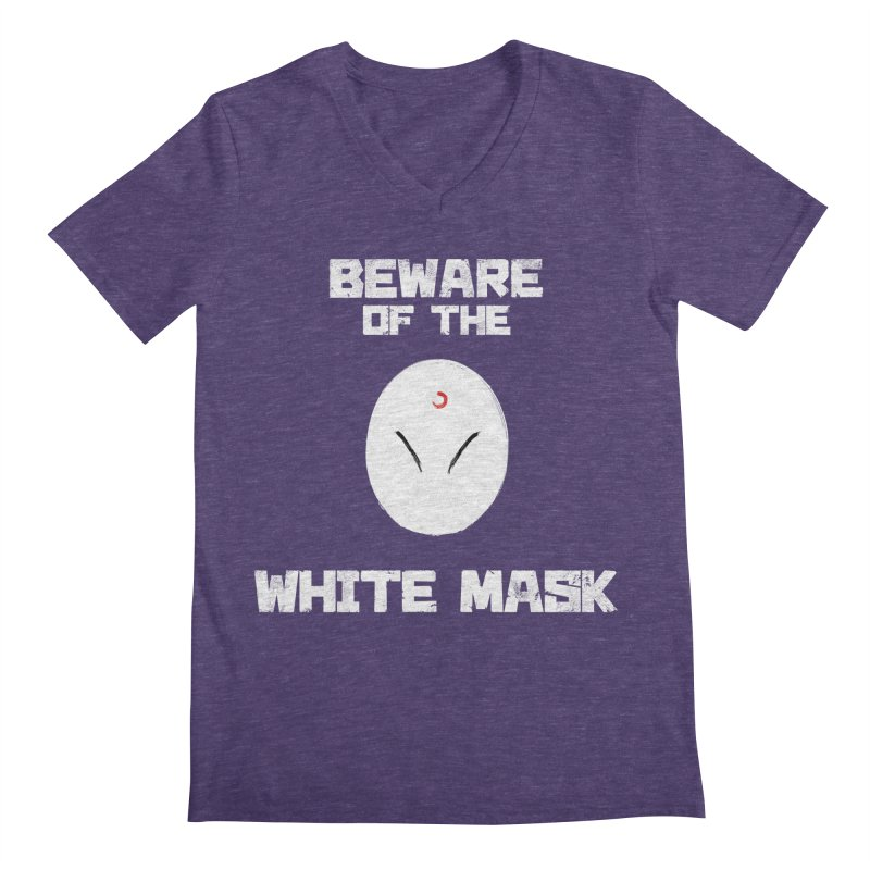 The White Mask Men's Regular V-Neck by Hound Picked Games