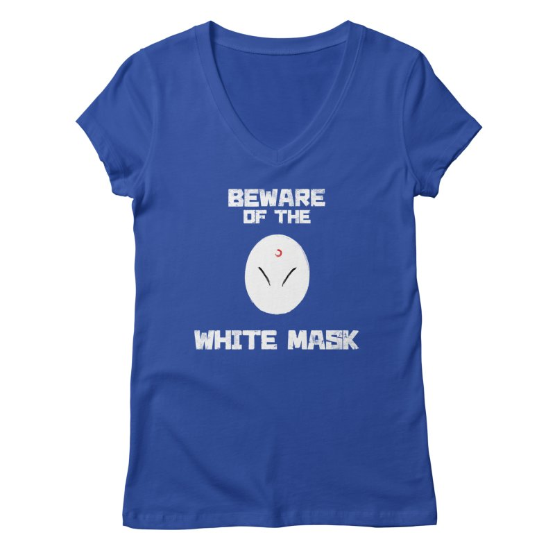 The White Mask Women's Regular V-Neck by Hound Picked Games