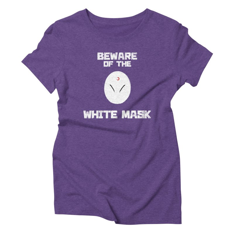 The White Mask Women's Triblend T-Shirt by Hound Picked Games