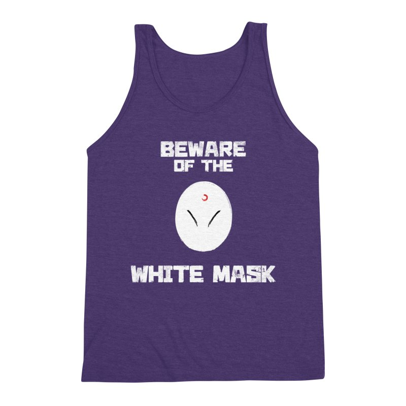 The White Mask Men's Triblend Tank by Hound Picked Games