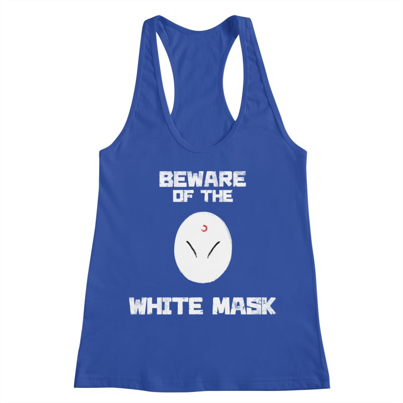 The White Mask Women's Racerback Tank by Hound Picked Games